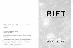 Rift (Roran Curse Book 4), pages ii-iii