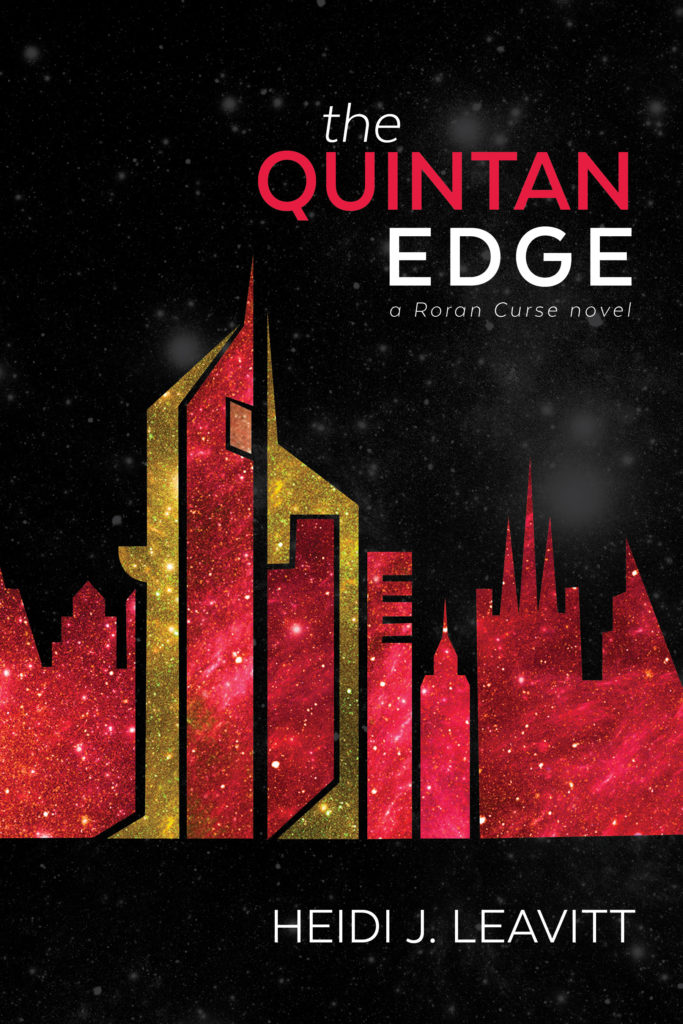 A city skyline in red and yellow. The Quintan Edge cover.