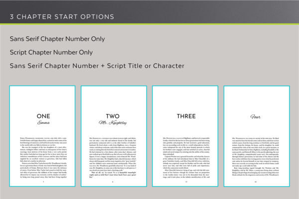 3 chapters start options.