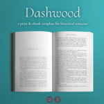 Dashwood, a template to format books for self-publishing