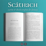 Scathach, a print & ebook template for fantasy