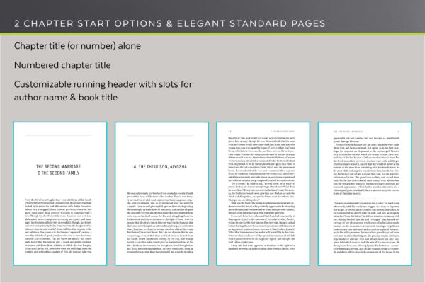 Joyce's two chapter start options and standard pages.