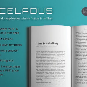 Enceladus, a science fiction book design template