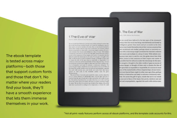 Ebook mockups for Enceladus