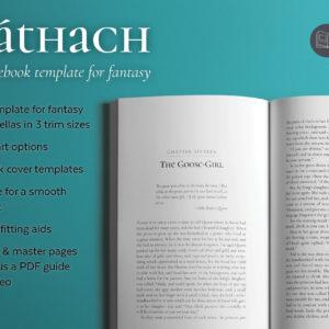 Scáthach, a fantasy book design template